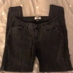 Paige 28 faded black skinny jeans